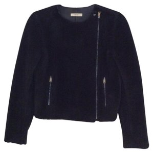 Céline Navy Blue Leather Jacket
