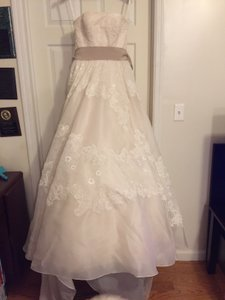 Melissa Sweet Melissa Sweet Strapless Satin Organza Gown With Antique Lace ( Style # Ms251001) Wedding Dress