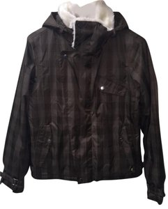 Burton Faux Fur Checkered Winter Coat