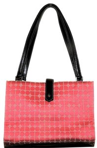 Kate Spade Bright Wide Opening Popular Tote in Pink and black