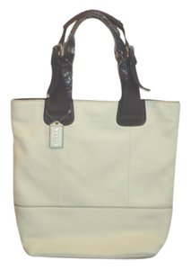 Steven by Steve Madden Leather Tote in Cream