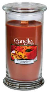 The Candle Factory The Candle Factory Large 15-ounce Jar Crackling Candle, Fruitcake
