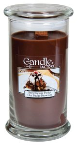 The Candle Factory The Candle Factory Large 15-ounce Jar Crackling Candle, Hot Fudge Brownies