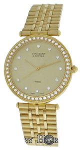 Van Cleef & Arpels Ladies 30MM Van Cleef & Arpels Paris 14303 Diamond 18K Yellow Gold Quartz Watch