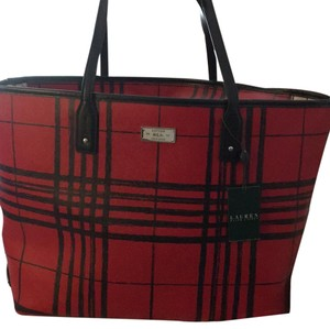 Lauren Ralph Lauren Tote in Red And Black