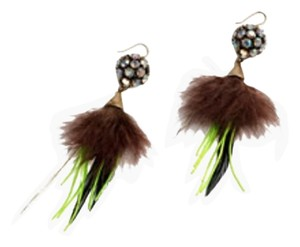 J.Crew J.Crew FEATHERED CRYSTAL EARRINGS
