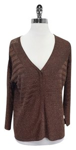 Rachel Roy Bronze Metallic Cardigan