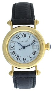 Cartier Mint Lady Unisex Cartier Diablo 1420 Quartz 32MM Solid 18K Gold Watch