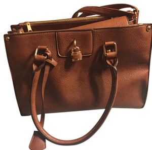 Leather locket bag Satchel
