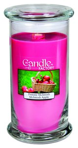 The Candle Factory The Candle Factory Large 15-ounce Jar Crackling Candle, Mcintosh Apple