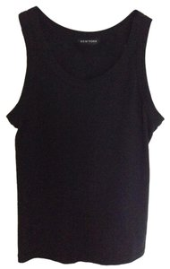 New York & Company Wardrobe Basic Cotton Top Black