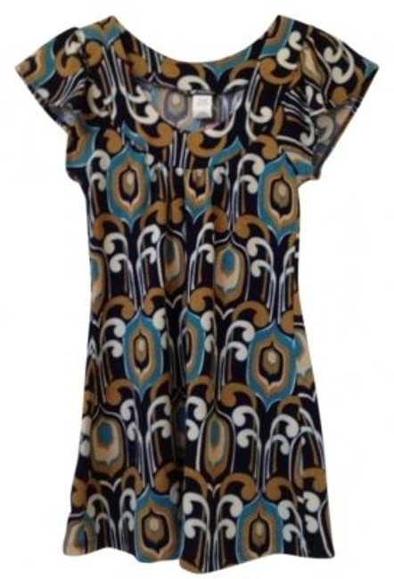 Lily White Multi Color With Flutter Sleeves Tunic