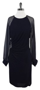 David Meister Navy Long Sleeve Dress