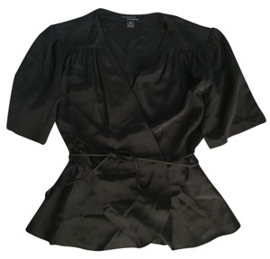 Trashy Diva Vintage Retro Silk Wrap Top Black