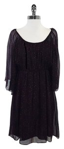Alice + Olivia short dress Plum Spotted Silk on Tradesy