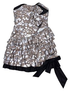 Marc by Marc Jacobs short dress Taupe Silver Silk Strapless on Tradesy