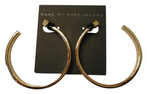 Marc Jacobs $78 NWT Marc by Marc Jacobs Red Gold-Plated Hoop Earring