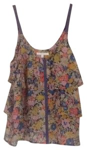 Anthropologie Top Blue melon multi