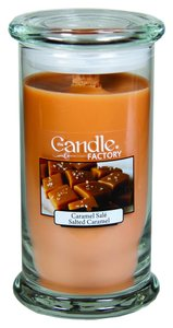 The Candle Factory The Candle Factory Large 15-ounce Jar Crackling Candle, Salted Caramel