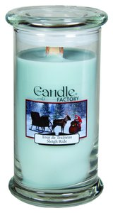 The Candle Factory The Candle Factory Large 15-ounce Jar Crackling Candle, Sleigh Ride