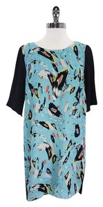Rebecca Minkoff short dress Light Blue Black Print on Tradesy