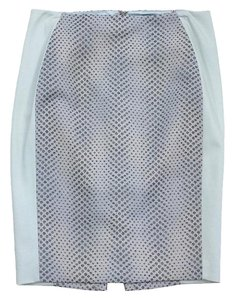 Elie Tahari Powder Blue Polka Dot Panel Pencil Skirt