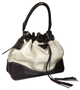 Prada Leather Nylon Drawstring Satchel