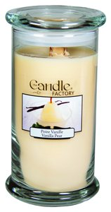 The Candle Factory The Candle Factory Large 15-ounce Jar Crackling Candle, Vanilla Pear