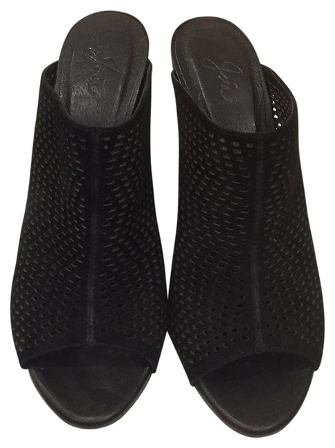 Item - Black Mules/Slides Size US 9.5 Regular (M, B)