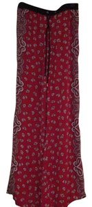 MICHAEL Michael Kors Relaxed Pants Red with black & white detail