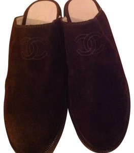 Chanel Brown Mules