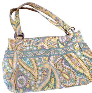 Vera Bradley Satchel in YELLOW/AQUA