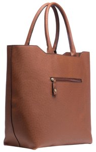 London Fog Tote in Cognac