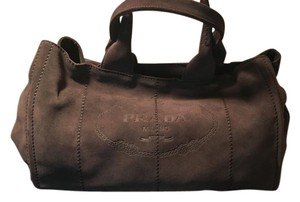 Prada Suede New Designer Satchel in Graphite