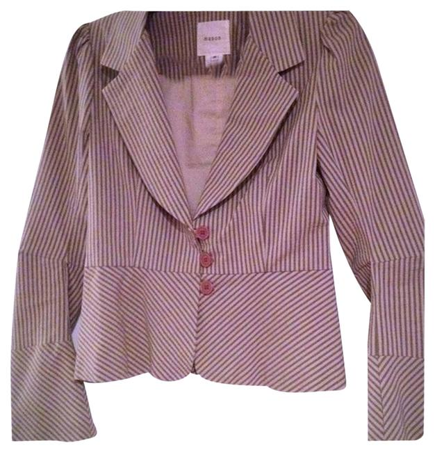 Preload https://img-static.tradesy.com/item/1743674/mason-sage-and-cream-fitted-blazer-size-8-m-0-0-650-650.jpg