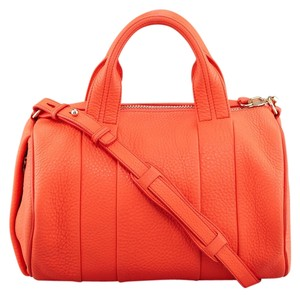 Alexander Wang Studded Satchel in tangerine orange