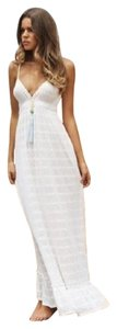 white Maxi Dress by Melissa Odabash Maxi Knitted