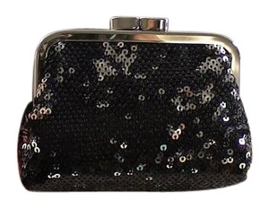 Victoria's Secret Victoria's Secret Angel Forever Black Beaded Sequin Coin Clutch New