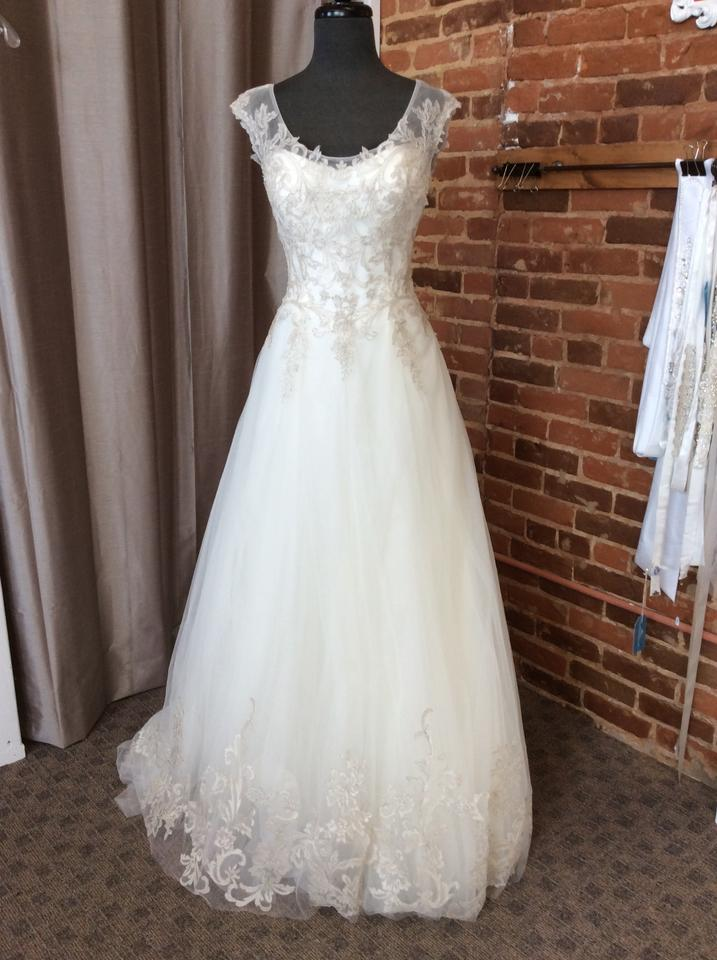Maggie Sottero Ivory/Pewter Metallic Embroidered Lace 5mr709 ...