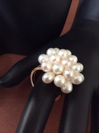 Other Genuine Cultured Cluster Pearl Earrings And Ring Set