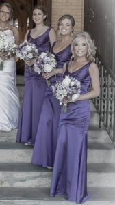 David's Bridal Purple Dress