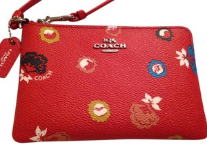 Coach Wristlet in Red Floral