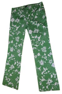 J.Crew J. Crew Low Fit Green Boot Cut Pants Kelly Green/White