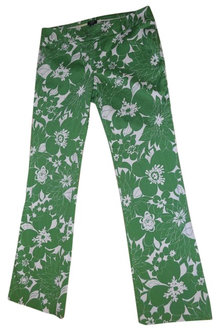 Item - Kelly Green/White Low Fit Trouser Pants Size 8 (M, 29, 30)