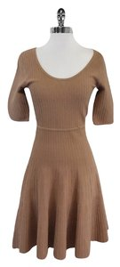 BCBGMAXAZRIA short dress Camel Ribbed Fit & Flare on Tradesy