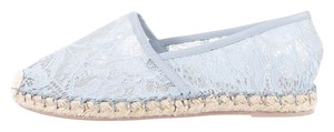 Valentino Summer Resort Size 37 Lace Pale Blue Flats
