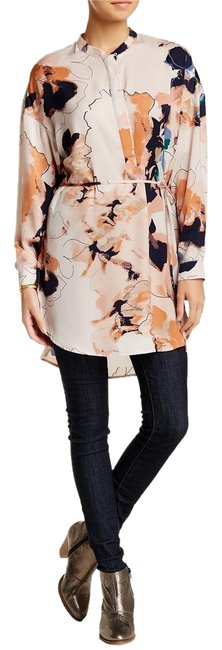 Item - Blush Watercolor Floral Oversize Tunic Size 4 (S)