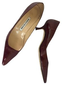 Manolo Blahnik Deep Maroon Pumps