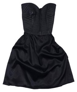 Parker short dress Black Leather Bustier Flared on Tradesy