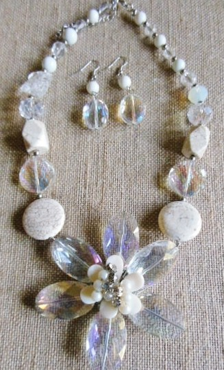 Other Off White Stone Statement Necklace